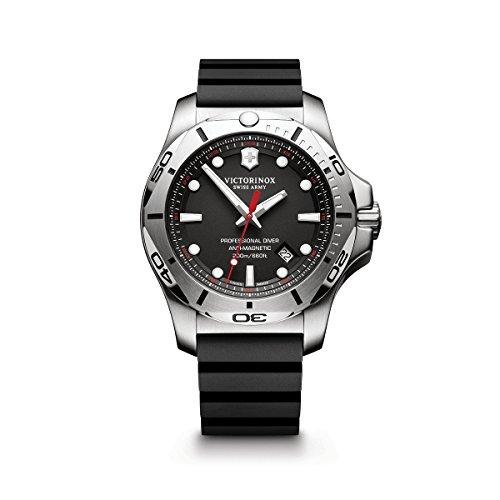 ビクトリノックス スイス 腕時計 メンズ 241733.1 【送料無料】Victorinox Swiss Army Men's I.N.O.X. Stainless Steel Swiss-Quartz Diving Watch with Rubber Strap, Black, 22 (Model: 241733.1)ビクトリノックス スイス 腕時計 メンズ 241733.1