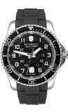 ビクトリノックス スイス 腕時計 メンズ 241435 Victorinox Swiss Army Black Rubber Band Black Dial - Men's Watch 241435ビクトリノックス スイス 腕時計 メンズ 241435