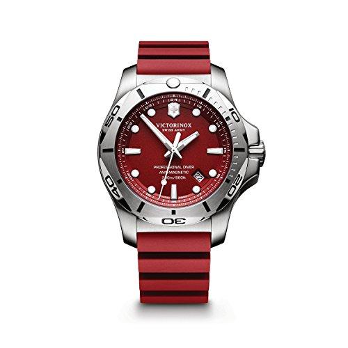 ビクトリノックス スイス 腕時計 メンズ 241736-2 【送料無料】Victorinox I.N.O.X. Stainless Steel Swiss-Quartz Diving Watch with Rubber Strap, red, 22 (Model: 241736.1)ビクトリノックス スイス 腕時計 メンズ 241736-2