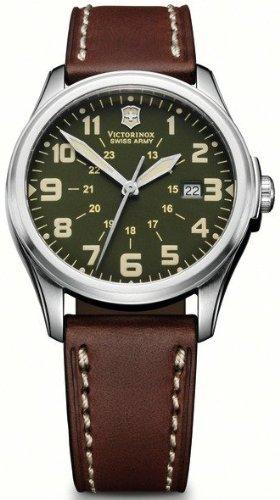 腕時計 ビクトリノックス スイス メンズ 【送料無料】Victorinox Infantry Vintage Unisex Analog Quartz Watch with Leather Bracelet V241309腕時計 ビクトリノックス スイス メンズ