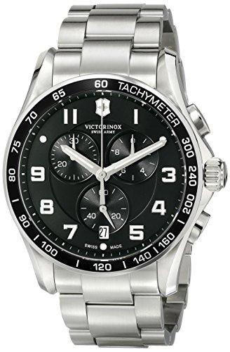 腕時計 ビクトリノックス スイス メンズ 241650 【送料無料】Victorinox Men's 241650 Chrono Classic Analog Display Swiss Quartz Silver Watch腕時計 ビクトリノックス スイス メンズ 241650