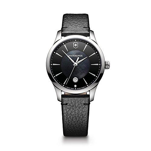 腕時計 ビクトリノックス スイス レディース,ウィメンズ 241754 【送料無料】Victorinox Women's Alliance Stainless Steel Swiss-Quartz Watch with Leather Strap, Black, 17 (Model: 241754)腕時計 ビクトリノックス スイス レディース,ウィメンズ 241754