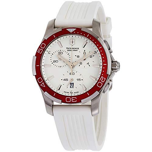 ビクトリノックス スイス 腕時計 レディース,ウィメンズ 241504 【送料無料】Victorinox Swiss Army Women's 241504 Alliance White Chronograph Dial Watchビクトリノックス スイス 腕時計 レディース,ウィメンズ 241504