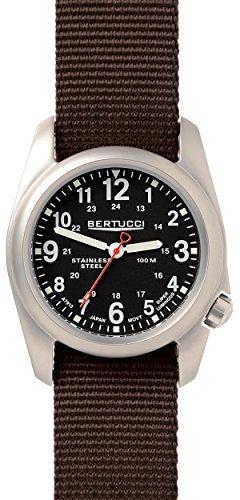 ベルトゥッチ 逆輸入 海外モデル 海外限定 アメリカ直輸入 Bertucci A-2S Field Watch Black - Defender Brown Nylonベルトゥッチ 逆輸入 海外モデル 海外限定 アメリカ直輸入