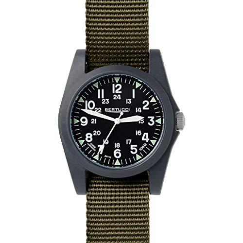 ベルトゥッチ 逆輸入 海外モデル 海外限定 アメリカ直輸入 13351 【送料無料】Bertucci A-3P Sportsman Vintage Field Black/Olive (Green) Nylon Analog Quartz Men's Watch 13351ベルトゥッチ 逆輸入 海外モデル 海外限定 アメリカ直輸入 13351
