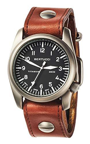 ベルトゥッチ 逆輸入 海外モデル 海外限定 アメリカ直輸入 13401.0 【送料無料】BERTUCCI A-4T Aero Vintage Watch Black/Ti-Tan w/Screws Band 13401ベルトゥッチ 逆輸入 海外モデル 海外限定 アメリカ直輸入 13401.0
