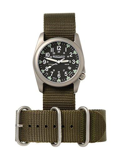 ベルトゥッチ 逆輸入 海外モデル 海外限定 アメリカ直輸入 Bertucci H13467 Mens Heritage Patrol Olive Nylon Band Black Dial Watchベルトゥッチ 逆輸入 海外モデル 海外限定 アメリカ直輸入