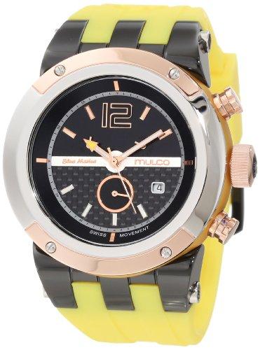 マルコ 腕時計 メンズ MW5-1621-095 【送料無料】Mulco Unisex Bluemarine Glass Chronograph Swiss Multifunctional Movement Watch (Yellow)マルコ 腕時計 メンズ MW5-1621-095