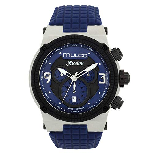 マルコ 腕時計 メンズ MW3-12140-415 MULCO Unisex MW3-12140-415 Ilusion Analog Display Swiss Quartz Blue Watchマルコ 腕時計 メンズ MW3-12140-415
