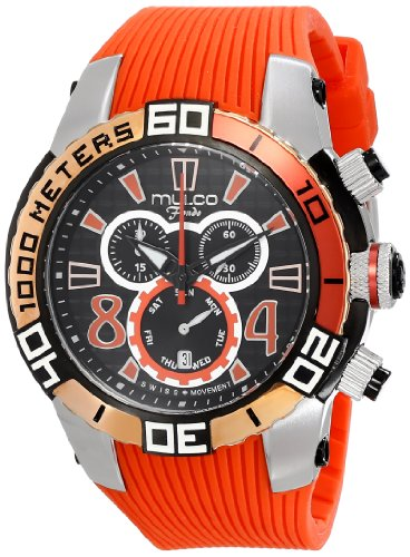 マルコ 腕時計 メンズ MW1-74197-065 MULCO Unisex MW1-74197-065 Analog Display Swiss Quartz Orange Watchマルコ 腕時計 メンズ MW1-74197-065