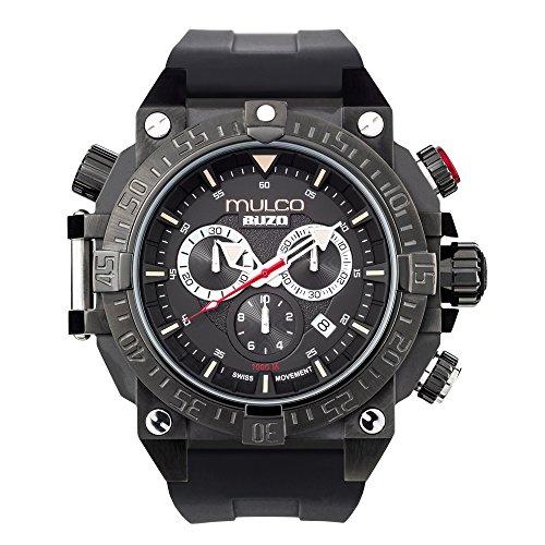 マルコ 腕時計 メンズ MB6-92565-025 Mulco Buzo Dive Quartz Swiss Chronograph Movement Men's Watch | Premium Analog Display with Steel Accent | Steel Watch Band | Water Resistant Stainless Steel Watch (Black)マルコ 腕時計 メンズ MB6-92565-025