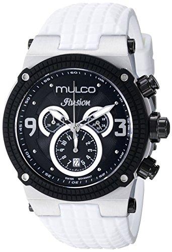 マルコ 腕時計 メンズ MW3-12140-015 MULCO Unisex Ilusion Analog Display Swiss Quartz Watch - Multifunctional Silicone Band (White)マルコ 腕時計 メンズ MW3-12140-015