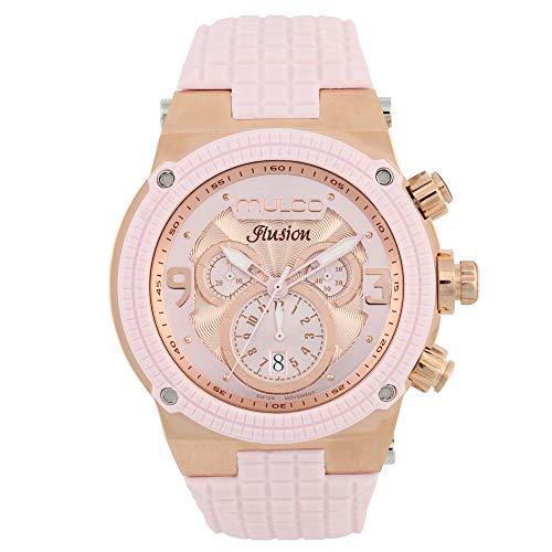 マルコ 腕時計 レディース MW3-12140-813 MULCO Unisex MW3-12140-813 Ilusion Analog Display Swiss Quartz Pink Watchマルコ 腕時計 レディース MW3-12140-813