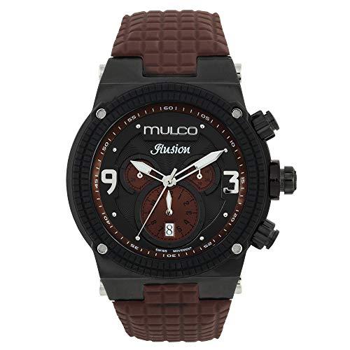 マルコ 腕時計 メンズ MW3-12140-035 【送料無料】MULCO Unisex Ilusion Analog Display Swiss Quartz Watch - Multifunctional Silicone Band (Brown)マルコ 腕時計 メンズ MW3-12140-035