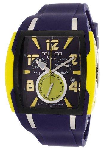 マルコ 腕時計 メンズ MW1-13186-049 Mulco Deep Navy Blue Dial Chronograph Blue Silicone Unisex Watch MW113186049マルコ 腕時計 メンズ MW1-13186-049