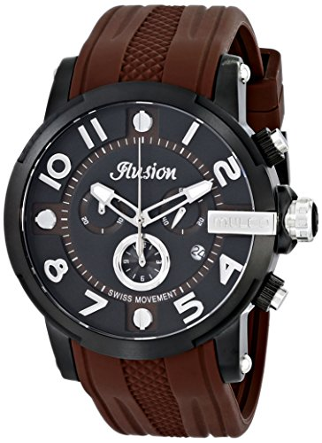 マルコ 腕時計 メンズ MW3-12239-035 【送料無料】MULCO Unisex Ilusion Roll Analog Display Swiss Quartz Watch - Multifunctional 100% Silicone Band Stainless Steel (Brown)マルコ 腕時計 メンズ MW3-12239-035