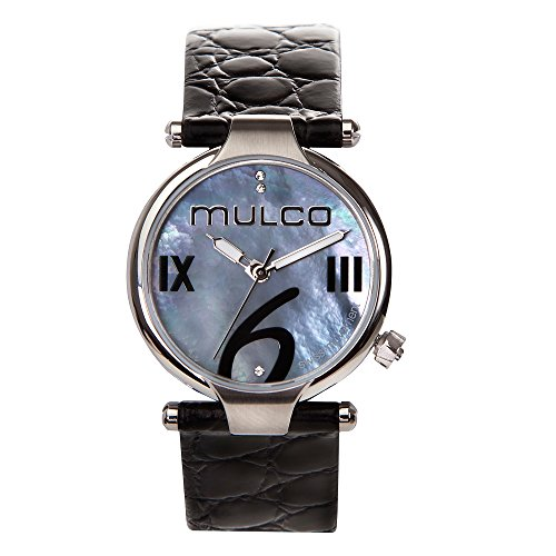 マルコ 腕時計 レディース MW5-4239-024 Mulco Mini Donna Swiss Quartz Analog Movement Women's Watch | Mother of Pearl Sundial with Swarovski Stainless Steel Accents | Leather Watch Band | Water Resistant Stainless マルコ 腕時計 レディース MW5-4239-024