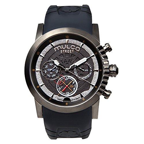 マルコ 腕時計 メンズ MW3-15097-215 Mulco Street London Men's Watch - Premium Analog Display with Dual Time- 100% Silicone Band - Multifunctional Movement - Water Resistant - All Stainless Steel - MW3-15097 (Grey)マルコ 腕時計 メンズ MW3-15097-215