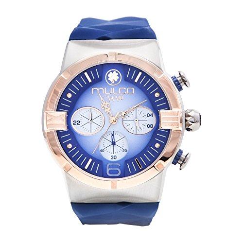 マルコ 腕時計 レディース MW5-3685-043 【送料無料】Mulco M10 Dome Gents Collection Watch - Premium Analog Display - 100% Silicone Band Watch - Chronograph - Water Resistant - Stainless Steel Fashion (Blue)マルコ 腕時計 レディース MW5-3685-043