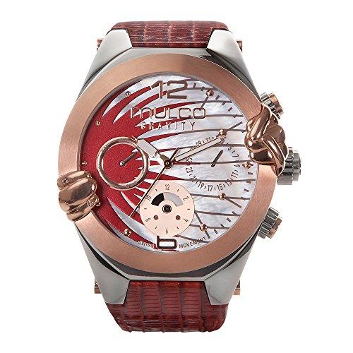 マルコ 腕時計 レディース MW5-3581-213 【送料無料】Mulco Gravity Saturn Quartz Multifunctional Movement Women's Watch | Sundial with Rose Gold and Mother of Pearl Accents | Leather Watch Band | Water Resistaマルコ 腕時計 レディース MW5-3581-213