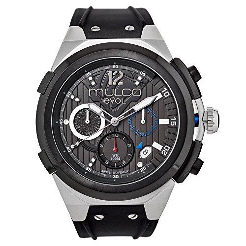 マルコ 腕時計 メンズ MW3-14091-024 【送料無料】Mulco Evol Engine Quartz Swiss Chronograph Movement Men's Watch | Premium Analog Display with Rose Gold Accents | Silicone Watch Band | Water Resistant Stainless マルコ 腕時計 メンズ MW3-14091-024