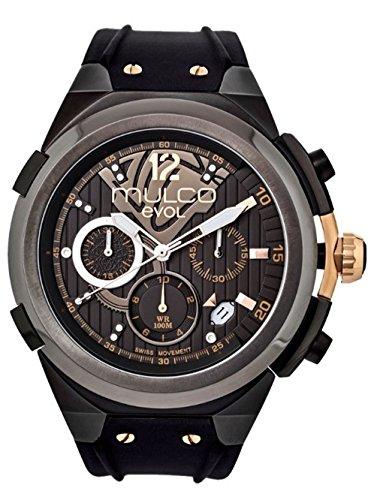 マルコ 腕時計 メンズ MW3-14091-023 【送料無料】Mulco Evol Engine Quartz Swiss Chronograph Movement Men's Watch | Premium Analog Display with Rose Gold Accents | Silicone Watch Band | Water Resistant Stainless マルコ 腕時計 メンズ MW3-14091-023
