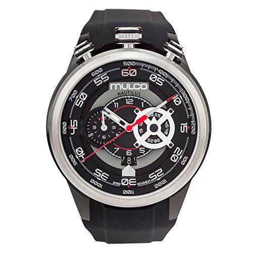 マルコ 腕時計 メンズ MW7-3754-025 【送料無料】Mulco Nautilius Quartz Swiss Chronograph Movement Men's Watch | Premium Analog Display with Steel Accents | Black Watch Band | Water Resistant Stainless Steel Watchマルコ 腕時計 メンズ MW7-3754-025