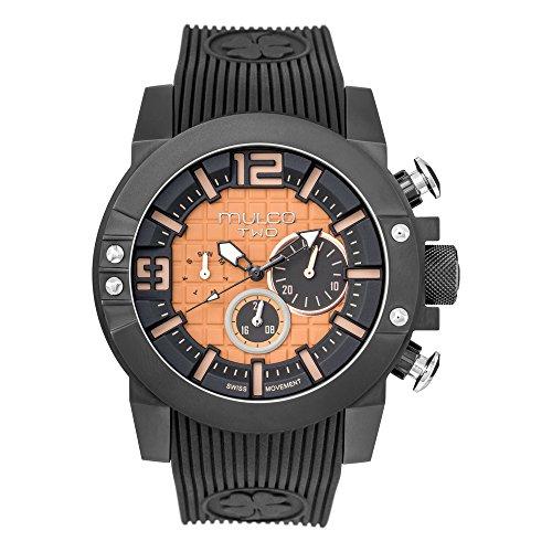 マルコ 腕時計 メンズ MW5-4271-024 【送料無料】Mulco M10 104 Swiss Quartz Chronograph Movement Men's Watch   Premium Analog Display with Rose Gold Accents   Silicone Watch Band   Water Resistant Stainless Steel マルコ 腕時計 メンズ MW5-4271-024