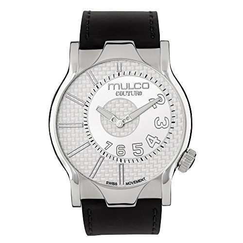 マルコ 腕時計 メンズ MW5-2013-221 【送料無料】Mulco Couture NYC Quartz Slim Analog Swiss Movement Men's Watch | Premium Analog Display with Gun Metal Plaque Accents | Leather Watch Band | Water Resistant Stainlマルコ 腕時計 メンズ MW5-2013-221