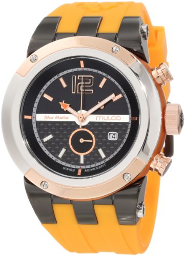 マルコ 腕時計 メンズ MW5-1621-305 【送料無料】Mulco Unisex Bluemarine Glass Chronograph Swiss Multifunctional Movement Watch (Orange)マルコ 腕時計 メンズ MW5-1621-305