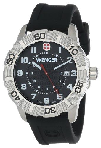 ウェンガー スイス メンズ 腕時計 0851.101 【送料無料】Wenger Roadster Stainless Steel Watch with Silicone Strapウェンガー スイス メンズ 腕時計 0851.101
