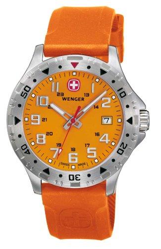 ウェンガー スイス アーミーナイフ メンズ 腕時計 79303W Wenger Off Road Orange Dial Silicone Strap Men's Watch 79303Wウェンガー スイス アーミーナイフ メンズ 腕時計 79303W