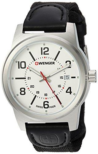 ウェンガー スイス アーミーナイフ メンズ 腕時計 01.0441.162 Wenger Men's Field Gear Stainless Steel Swiss-Quartz Watch with Nylon Strap, Black, 20 (Model: 01.0441.162)ウェンガー スイス アーミーナイフ メンズ 腕時計 01.0441.162