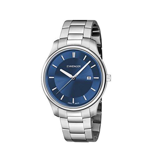 ウェンガー スイス メンズ 腕時計 01.1441.117 【送料無料】Wenger Men's City Classic Swiss-Quartz Watch with Stainless-Steel Strap, Silver, 21 (Model: 01.1441.117)ウェンガー スイス メンズ 腕時計 01.1441.117