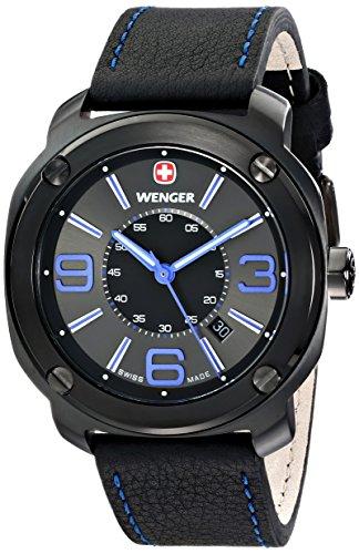 ウェンガー スイス メンズ 腕時計 01.1051.105 【送料無料】Wenger Men's 01.1051.105 Escort Analog Display Swiss Quartz Black Watchウェンガー スイス メンズ 腕時計 01.1051.105