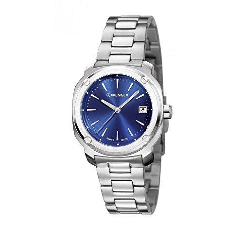 ウェンガー スイス アーミーナイフ メンズ 腕時計 01.1141.112 Wenger 01.1141.112 EDGE Index Stainless Steel Bracelet Band Blue Dial Watchウェンガー スイス アーミーナイフ メンズ 腕時計 01.1141.112
