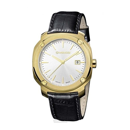 ウェンガー スイス アーミーナイフ メンズ 腕時計 01.1141.113 Wenger Edge Index Silver Dial Leather Strap Men's Watch 01.1141.113ウェンガー スイス アーミーナイフ メンズ 腕時計 01.1141.113