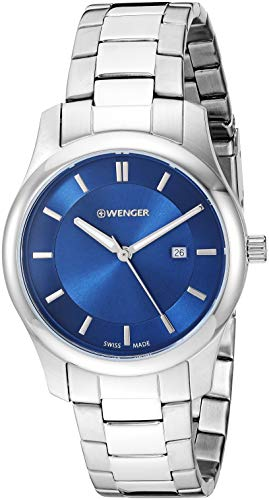 ウェンガー スイス アーミーナイフ メンズ 腕時計 01.1421.106 Wenger Men's City Classic Swiss-Quartz Watch with Stainless-Steel Strap, Silver, 15.9 (Model: 01.1421.106)ウェンガー スイス アーミーナイフ メンズ 腕時計 01.1421.106