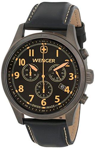 ウェンガー スイス メンズ 腕時計 0543.104 【送料無料】Wenger Men's 0543.104 Analog Display Swiss Quartz Black Watchウェンガー スイス メンズ 腕時計 0543.104