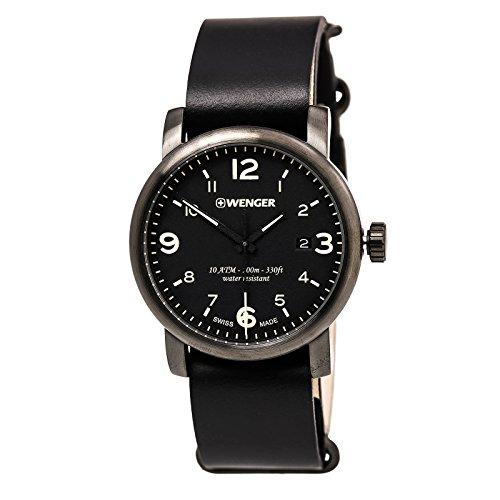 ウェンガー スイス メンズ 腕時計 01.1041.135 【送料無料】Urban Hipster Mens Analog Swiss Quartz Watch with Leather Bracelet 01.1041.135ウェンガー スイス メンズ 腕時計 01.1041.135