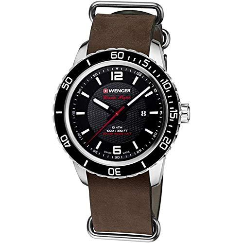 ウェンガー スイス メンズ 腕時計 【送料無料】Roadster Mens Analog Swiss Quartz Watch with Leather Bracelet 01.0851.121ウェンガー スイス メンズ 腕時計