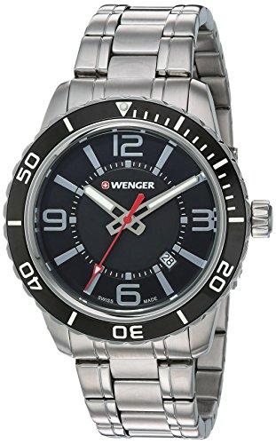 ウェンガー スイス メンズ 腕時計 01.0851.118 【送料無料】Wenger Men's Roadster Swiss-Quartz Watch with Stainless-Steel Strap, Silver, 22 (Model: 01.0851.118)ウェンガー スイス メンズ 腕時計 01.0851.118