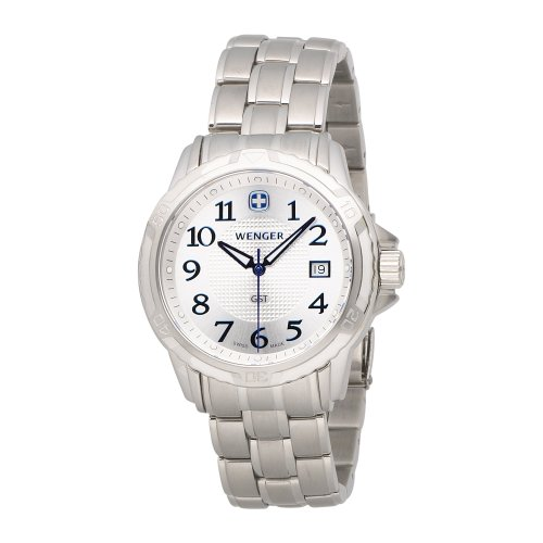 ウェンガー スイス メンズ 腕時計 78239 【送料無料】Wenger Men's 78239 GST Silver Dial Steel Bracelet Watchウェンガー スイス メンズ 腕時計 78239