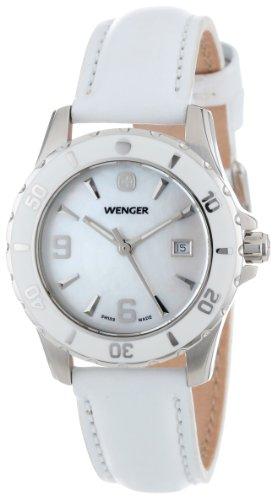 ウェンガー スイス 腕時計 レディース 70382 【送料無料】Wenger Women's 70382 Sport Mother-of-Pearl Dial White Leather Watchウェンガー スイス 腕時計 レディース 70382
