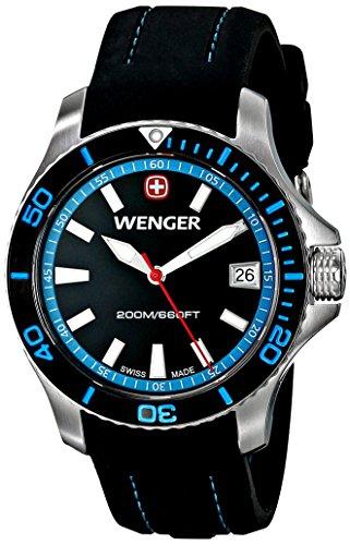 """ウェンガー スイス 腕時計 レディース 0621.102 【送料無料】Wenger Women""""s 0621.102 Sea Force 3 H Analog Display Swiss Quartz Black Watchウェンガー スイス 腕時計 レディース 0621.102"""