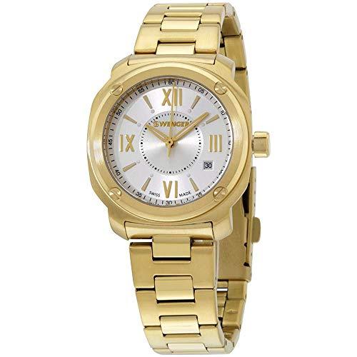 ウェンガー スイス 腕時計 レディース 01.1121.113 Wenger Quartz Movement Silver Dial Ladies Watch 01.1121.113ウェンガー スイス 腕時計 レディース 01.1121.113