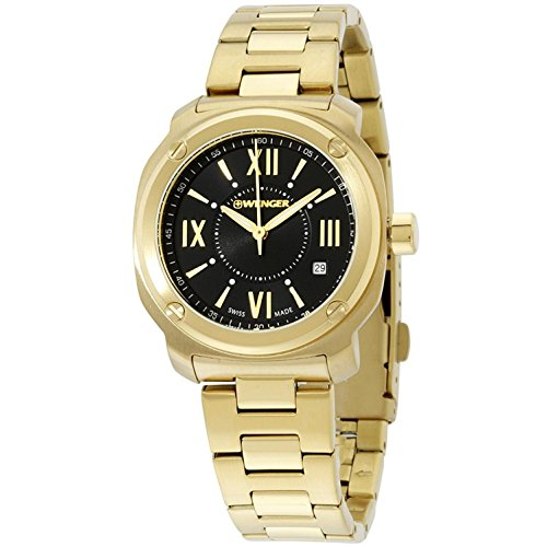 ウェンガー スイス アーミーナイフ メンズ 腕時計 Wenger-011121114_E1 Wenger Black Dial Stainless Steel Ladies Watch 01.1121.114ウェンガー スイス アーミーナイフ メンズ 腕時計 Wenger-011121114_E1