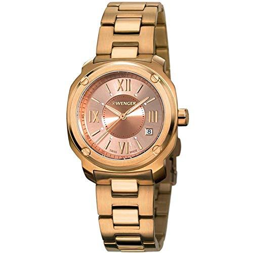 ウェンガー スイス 腕時計 レディース 01.1121.112 【送料無料】Wenger Edge Roman Quartz Movement Rose Gold Dial Ladies Watch 01.1121.112ウェンガー スイス 腕時計 レディース 01.1121.112
