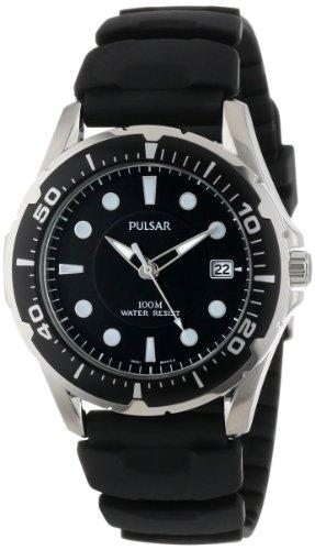パルサー SEIKO セイコー 腕時計 メンズ PXH227 Pulsar Men's PXH227 Stainless Steel Watch with Black Rubber Bandパルサー SEIKO セイコー 腕時計 メンズ PXH227