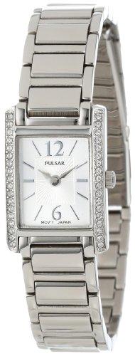 パルサー SEIKO セイコー 腕時計 レディース PEGC51 Pulsar Women's PEGC51 Crystal Accented Dress Silver-Tone Stainless Steel Watchパルサー SEIKO セイコー 腕時計 レディース PEGC51